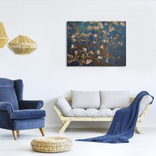 Let us transform your space with Van Gogh - Branches Of An Almond Tree In Blossom Part of the #overstockArt.com Art for Mother's Day Pinterest Sweeps
