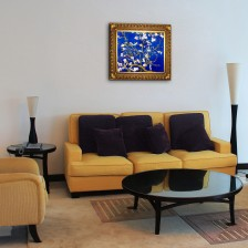 Let us transform your space with Van Gogh - Branches Of An Almond Tree In Blossom (Artist Interpretation in Blue)! Part of the #overstockArt.com Mother's Favorite Pinterest Sweeps