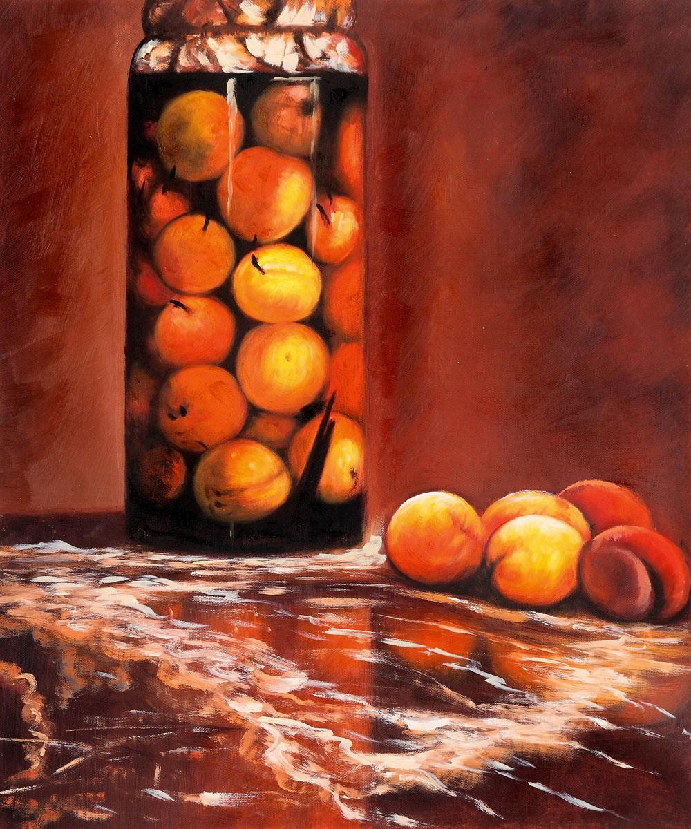 Monet - Jar of Peaches - Classic 20 X 24 - Hand Painted Canvas Art Peaches, Peach, Peach Tree, Peach Trees, Peach Plants, Fruit Trees, Live Peach, Fruit Garden, Fruit