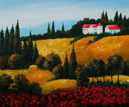Art Reproduction Oil Painting - Private Villa II - Classic 20 X 24 - Hand Painted Canvas Art