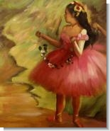 Mother's Day Art: Dancer in Pink Dress