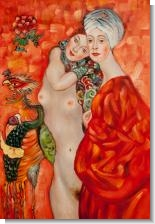 Klimt Paintings: Girl Friends