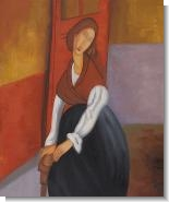 Modigliani Paintings: Jeanne Hebuterne