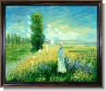 Monet Paintings: La Promenade (Argenteuil) Pre-Framed