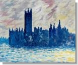Monet Paintings: London. Houses of Parliament (Sun Breaking Through the Fog)
