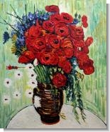 Van Gogh Paintings: Vase with Daisies and Poppies