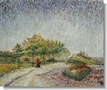 Van Gogh Paintings: Lane in the Argenson Park at Asnieres Spring