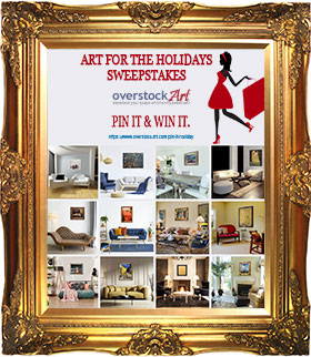 The #overstockArt.com Art for the Holidays Pinterest Sweeps