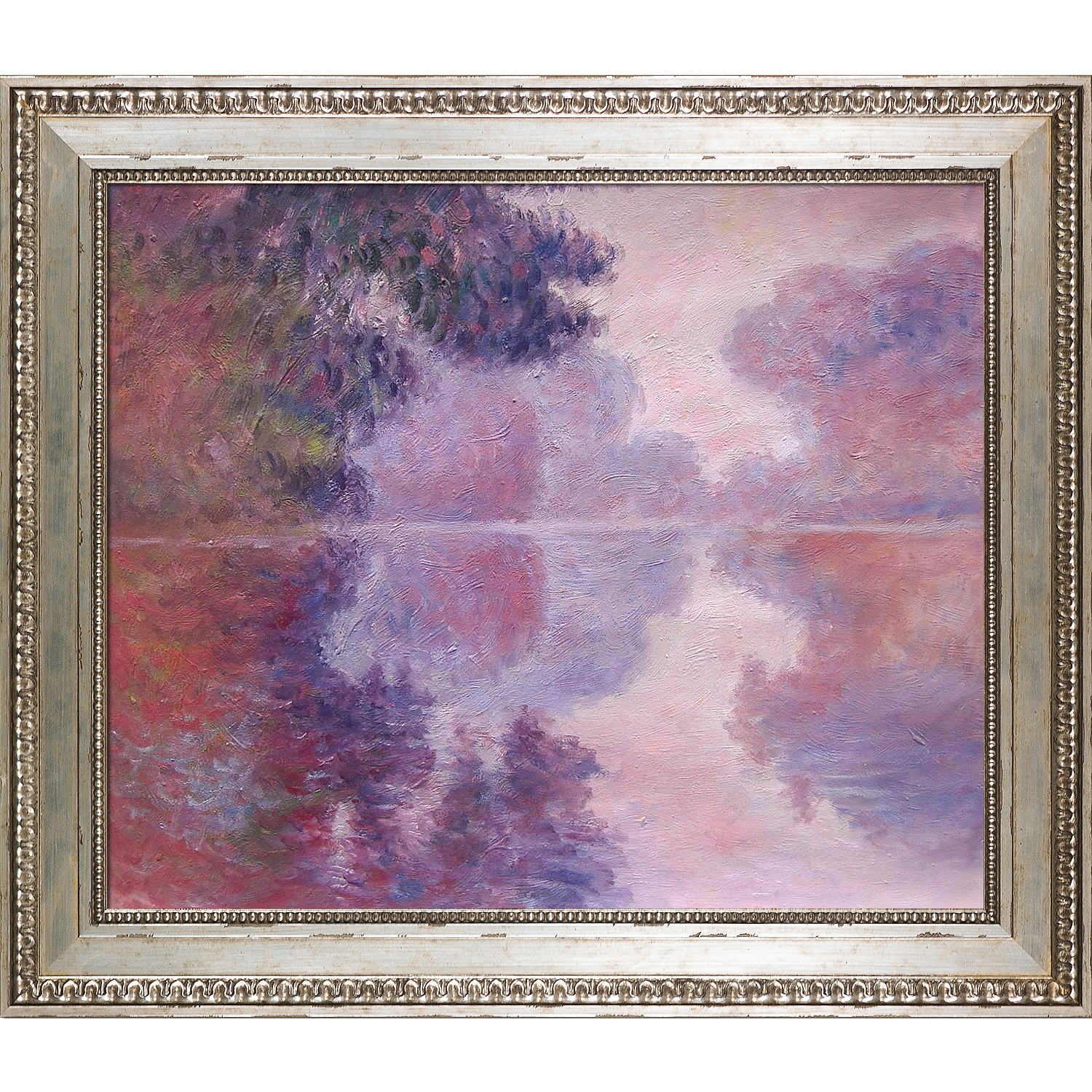 Claude Monet - Misty Morning on the Seine (pink)